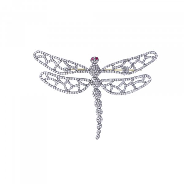 Sterling Silver Diamond Fly Brooch