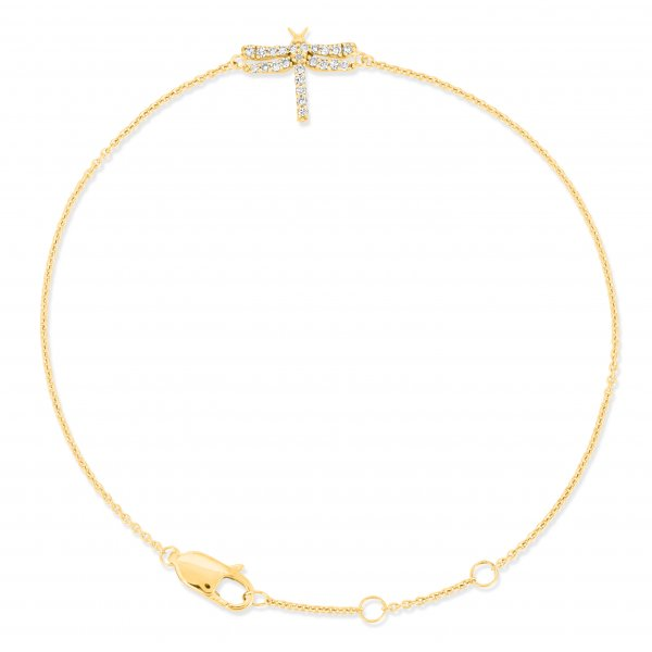 Yellow Gold Butterfly Diamond Bracelet