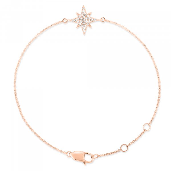 Rose Gold Star Diamond Bracelet