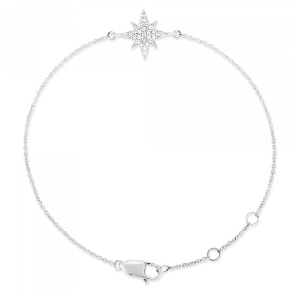 White Gold Star Diamond Bracelet